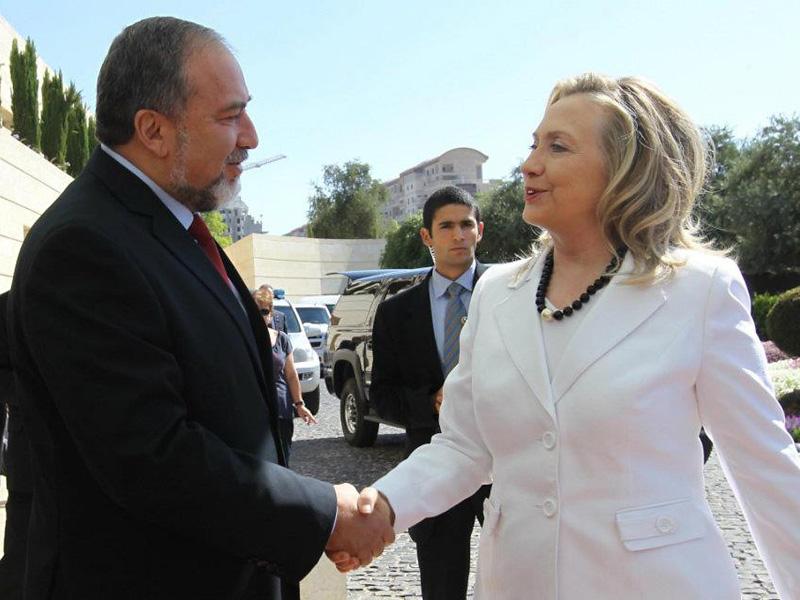 Авигдор Либерман с госсекретарем США Хиллари Клинтон