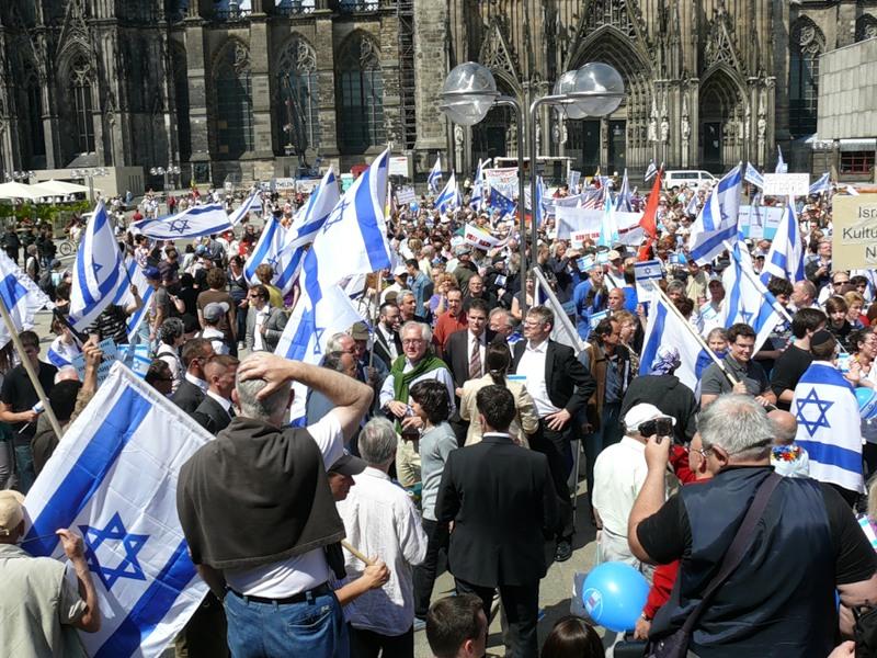 Демонстрация в поддержку Израиля в Кельне